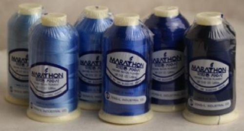 Marathon Embroidery Thread RAYON 6 Pack - Blue